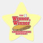 Cena del Cheesesteak del ganador del ganador del Calcomania Forma De Estrella