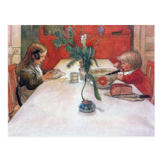 Cena del día de fiesta del navidad de Carl Larsson Postal