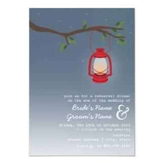 Cena del ensayo de la tarde - linterna roja del invitación 12,7 x 17,8 cm