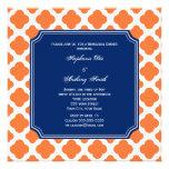 Cena del ensayo de Quatrefoil del azul anaranjado  Comunicados Personalizados