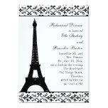 Cena del ensayo de Tres París (blanca) Invitaciones Personales