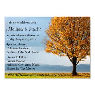 Cena del ensayo del árbol de arce del otoño de la invitación 11,4 x 15,8 cm