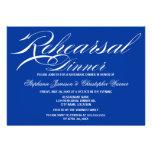 Cena del ensayo del azul real de la elegancia de l comunicados personalizados