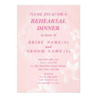 Cena del ensayo - flores abstractas rosas claras