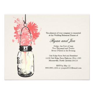 Cena del ensayo - flores salvajes y tarro de albañ comunicado personalizado
