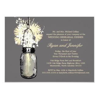 Cena del ensayo - Wildflowers de las margaritas y Invitación 13,9 X 19,0 Cm