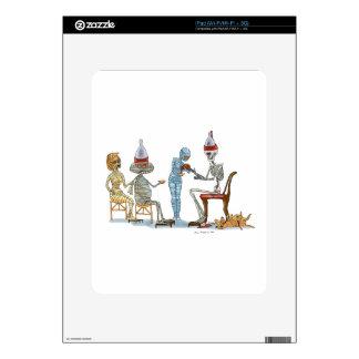 Cena del esqueleto de Mummific iPad Calcomanía