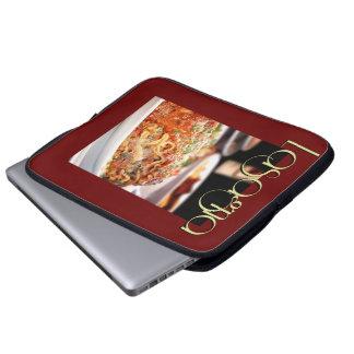 Cena del Lasagna en el restaurante italiano Funda Portátil
