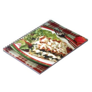 Cena del Lasagna Libros De Apuntes Con Espiral