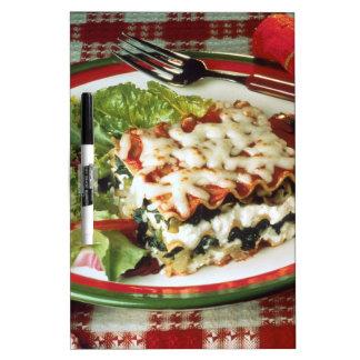Cena del Lasagna Pizarra
