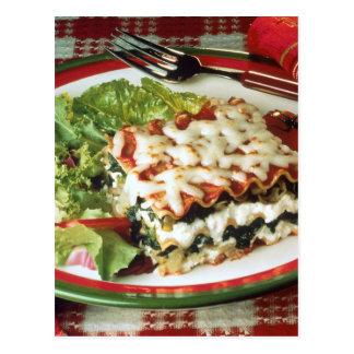 Cena del Lasagna Tarjeta Postal