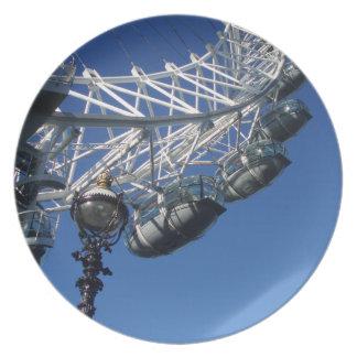 Cena del ojo de Londres/placa decorativa Plato Para Fiesta