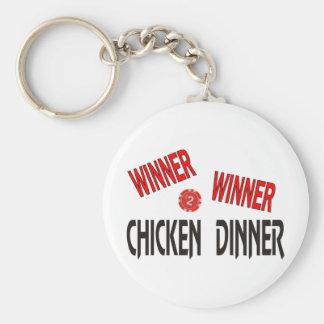 Cena del pollo del ganador del ganador llavero redondo tipo pin