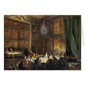 Cena del príncipe de Conti en el templo Tarjeta De Felicitación
