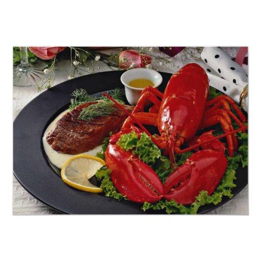 Cena deliciosa de la langosta comunicado personalizado