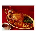 Cena deliciosa para los amantes de la comida tarjetas postales
