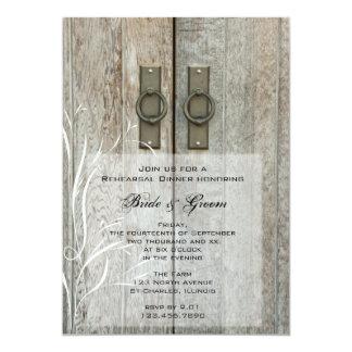 Cena doble del ensayo del boda del país de la invitación 12,7 x 17,8 cm