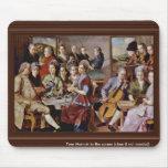 Cena en el detalle de Emmaus de Pontormo Jacopo (e Alfombrilla De Ratón