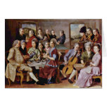 Cena en el detalle de Emmaus de Pontormo Jacopo (e Tarjetas