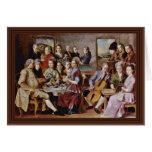 Cena en el detalle de Emmaus de Pontormo Jacopo (e Felicitación