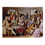 Cena en el detalle de Emmaus de Pontormo Jacopo (e Tarjeta Postal