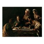 Cena en Emmaus, 1606 Postal