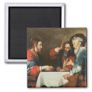 Cena en Emmaus (aceite en lona) 2 Imán