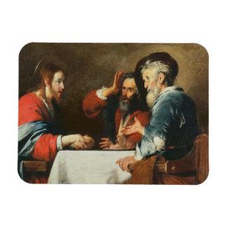 Cena en Emmaus (aceite en lona) 2 Imanes Flexibles