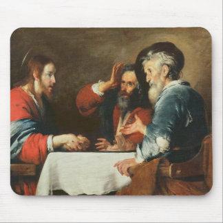 Cena en Emmaus (aceite en lona) 2 Tapete De Raton