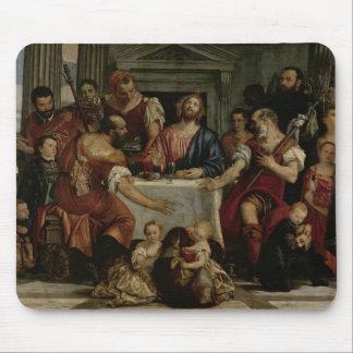 Cena en Emmaus (aceite en lona) Alfombrilla De Ratón
