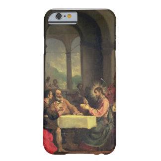 Cena en Emmaus, c.1600-05 (aceite en el panel) Funda Barely There iPhone 6