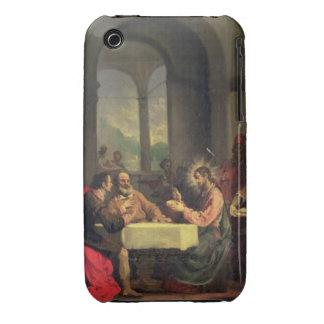 Cena en Emmaus, c.1600-05 (aceite en el panel) Funda Bareyly There Para iPhone 3 De Case-Mate