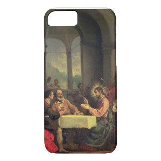 Cena en Emmaus, c.1600-05 (aceite en el panel) Funda iPhone 7