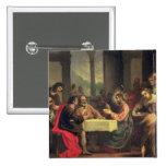 Cena en Emmaus, c.1600-05 (aceite en el panel) Pins