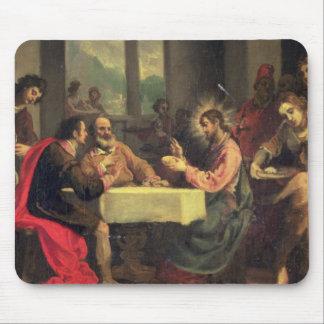 Cena en Emmaus, c.1600-05 (aceite en el panel) Tapetes De Ratones