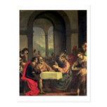 Cena en Emmaus, c.1600-05 (aceite en el panel) Postal