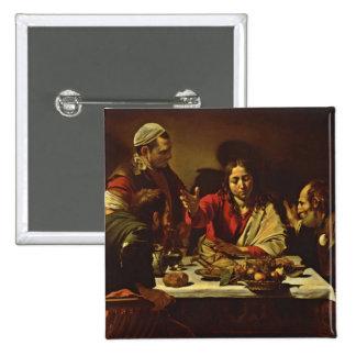 Cena en Emmaus con los amigos Pin Cuadrado