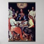 Cena en Emmaus de Pontormo Jacopo Impresiones