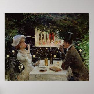 Cena en Les Ambassadeurs c 1882 Impresiones