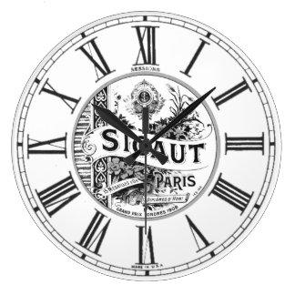 Cena en París Reloj Redondo Grande