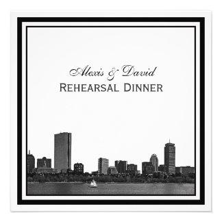 Cena enmarcada grabada al agua fuerte horizonte de comunicado personal