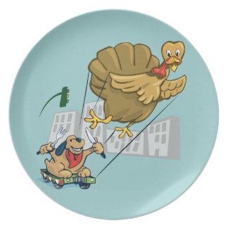 Cena flotante de Turquía Plato Para Fiesta