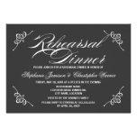 Cena gris del ensayo de la elegancia de la caligra invitación personalizada