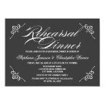 Cena gris del ensayo de la elegancia de la invitación personalizada