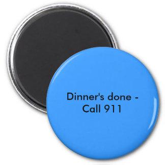 Cena hecha - imán de la llamada 911