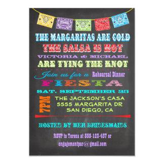 Cena mexicana del ensayo de la fiesta de la invitaciones personalizada