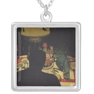Cena por la luz artificial 1899 collares personalizados