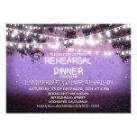 cena púrpura del ensayo de las luces de la noche y invitacion personal