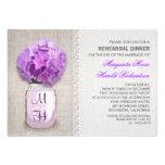 Cena púrpura rústica del ensayo del tarro de albañ comunicados personalizados