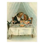 """""""Cena romántica para postal del vintage de las ran"""
